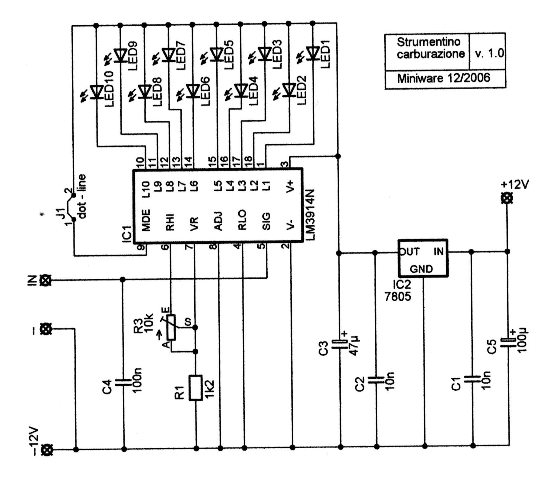 Schema elettrico sonda lambda 4 fili